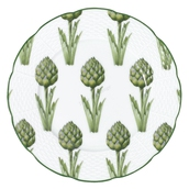 assiette decor artichauts