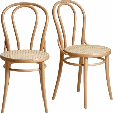 Chaise bistrot bois thonet for Chaise bistrot