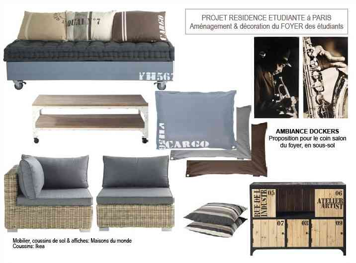Résidence étudiante - Ambiance dockers pour foyer