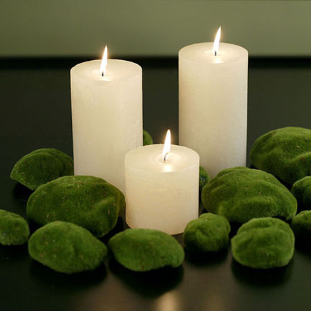3 bougies Carnet Deco