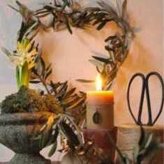 Aboutgarden 1 bougie Avent et coeur olivier