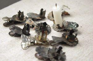 Pinces a bougies Noel Sur 1R de brocante