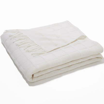 Plaid blanc laine Cyrillus