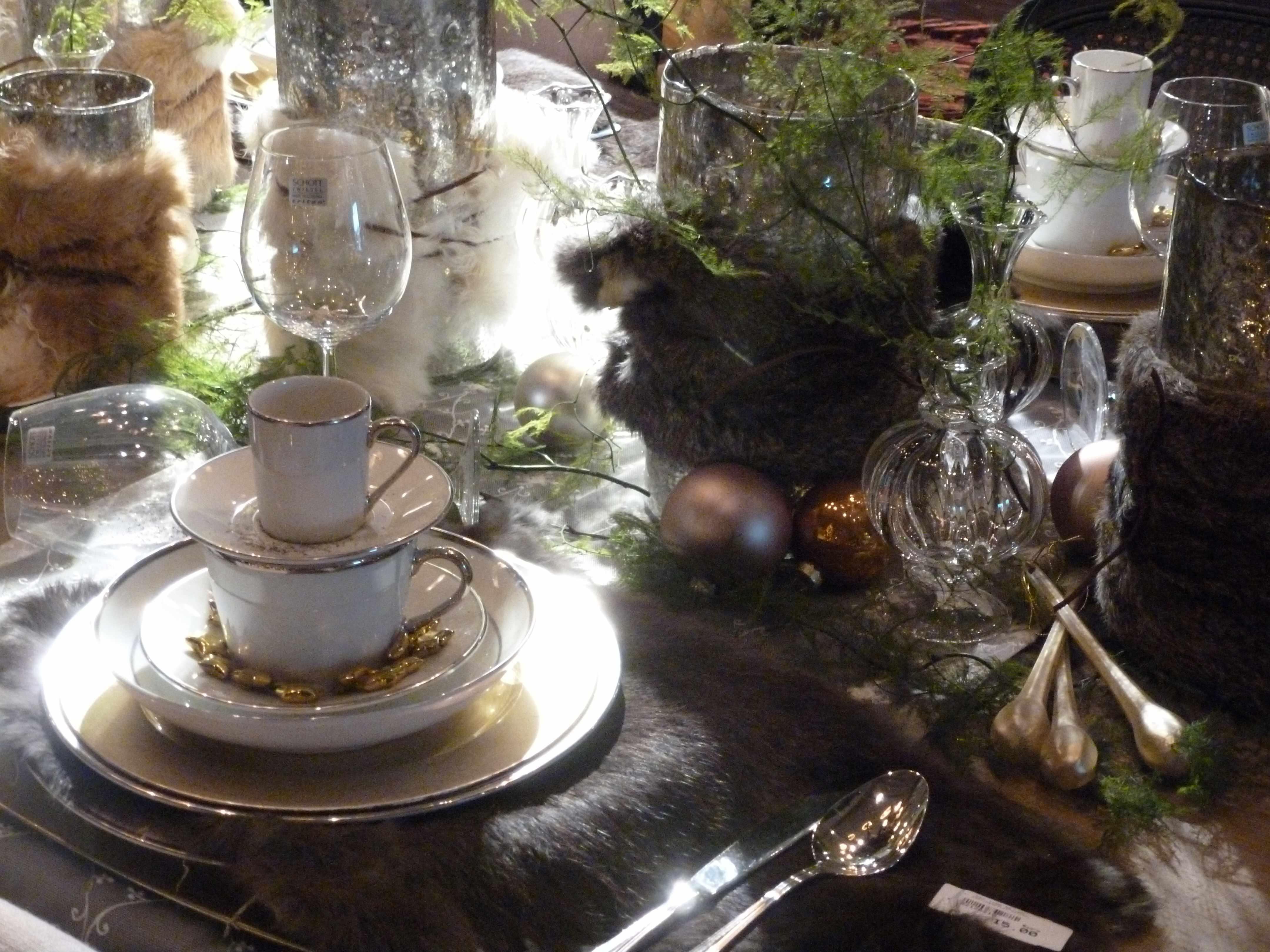 Table Noel vert-or-fourrure Slots 12-2012