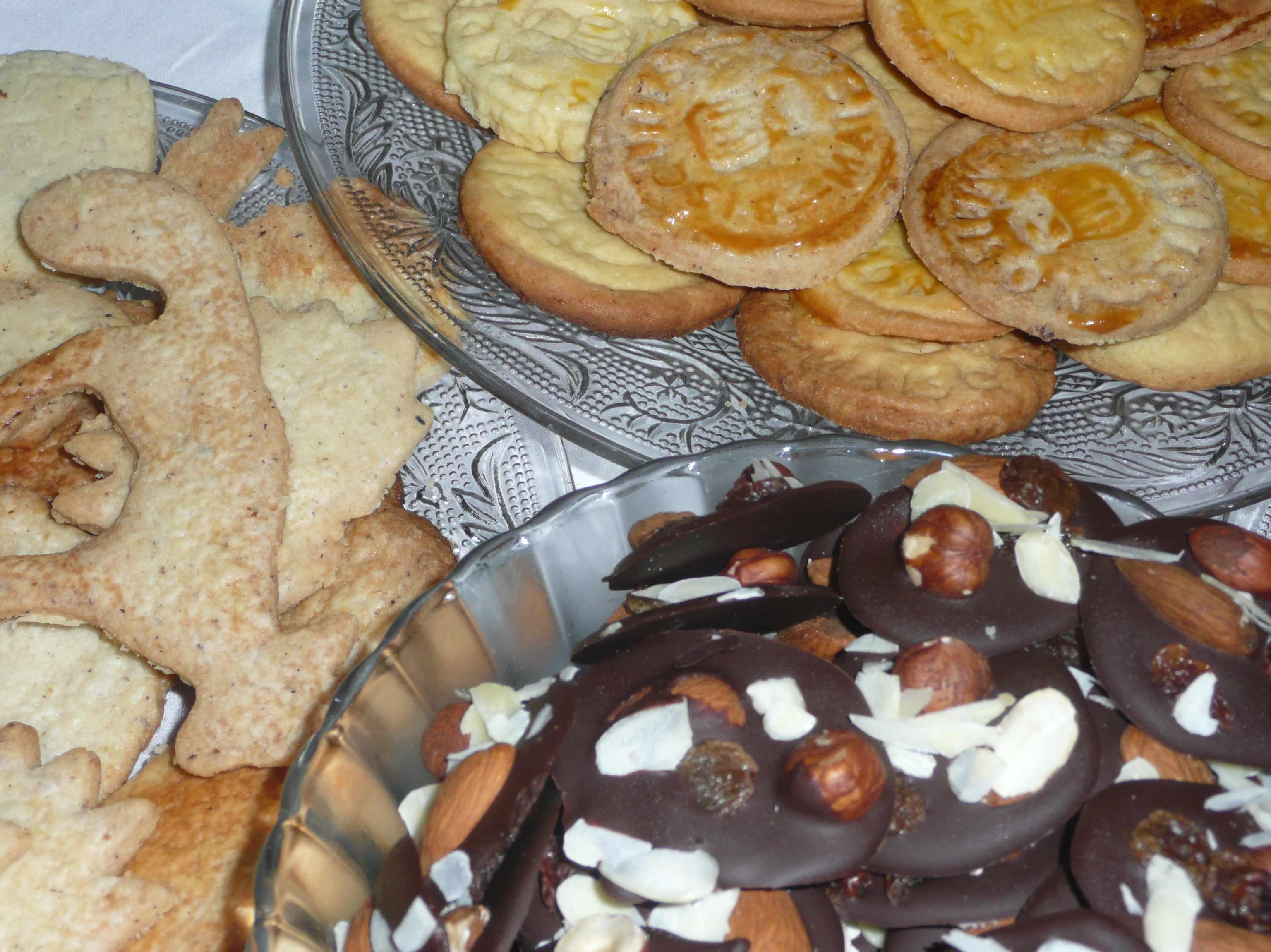 biscuits et chocolats de Noel