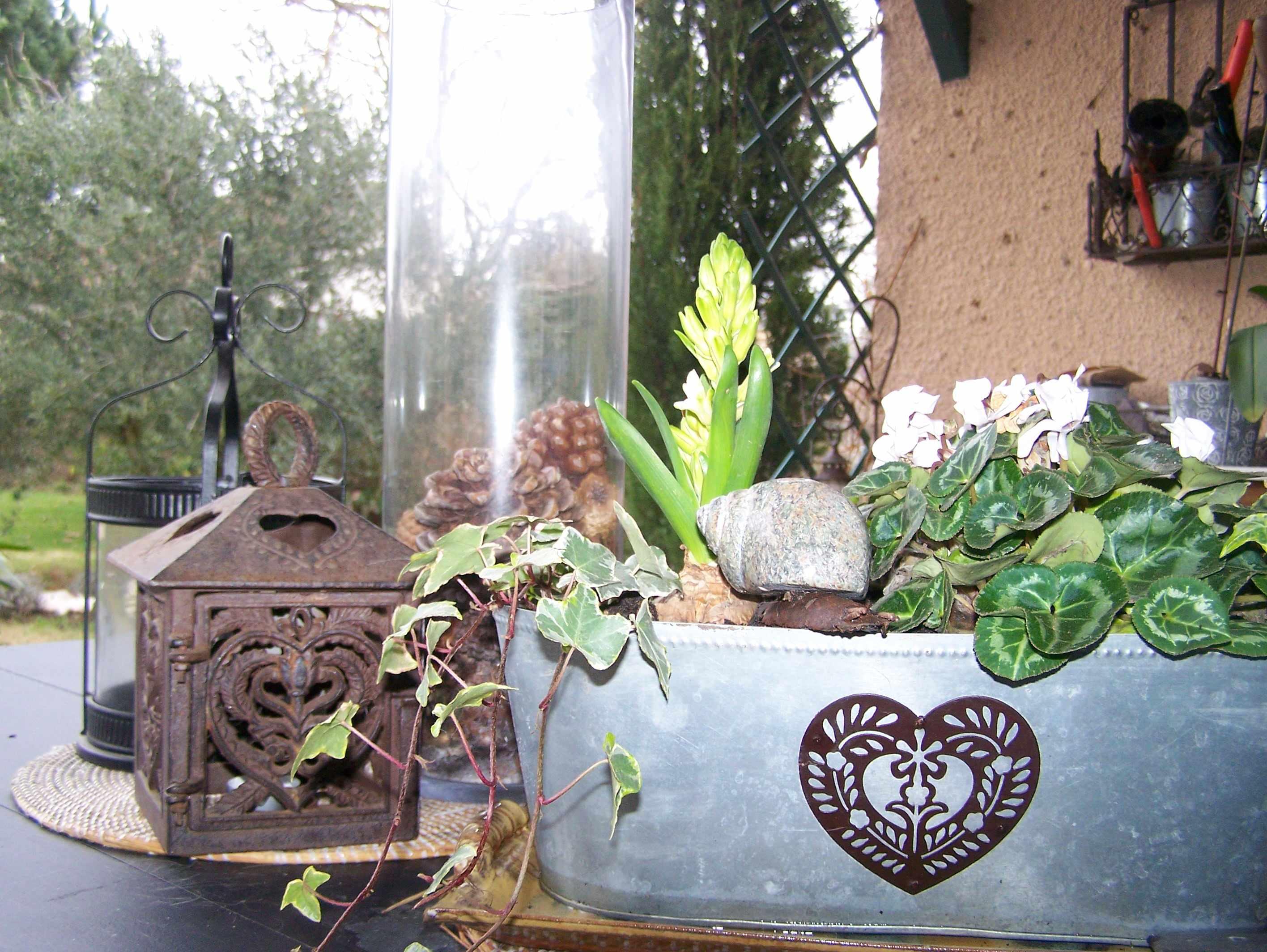 deco de fete nature Christelle jardinière et lanternes