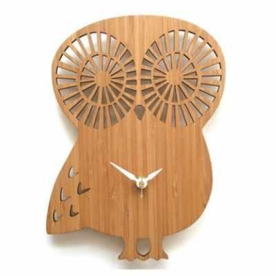 horloge en bois chouette Prairymood