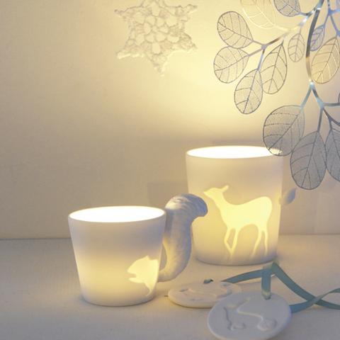 mug photophore animaux de la foret Fleux