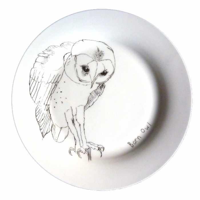 assiette chouette -barn owl- Elli Popp