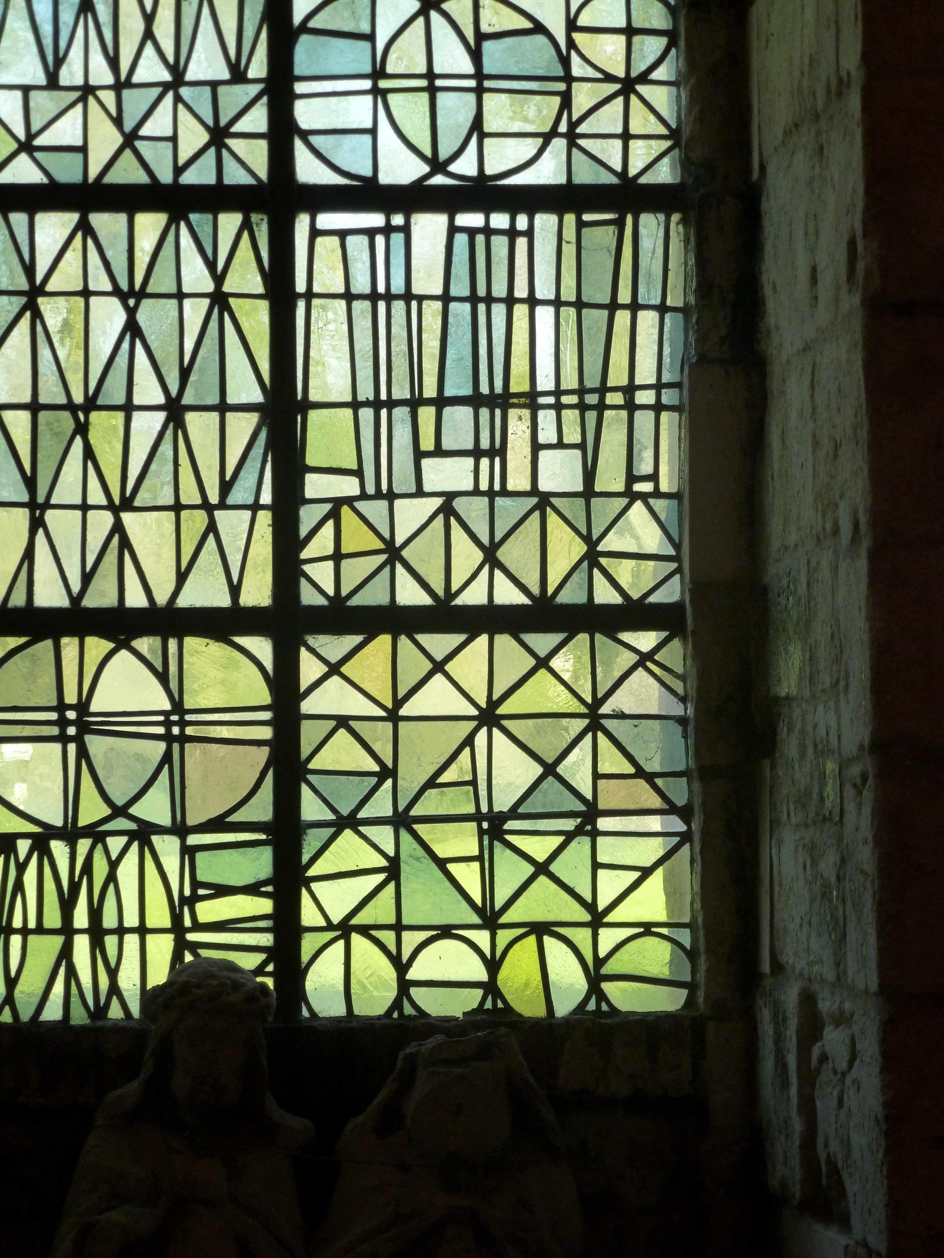 Abbaye Vaucelles vitrail du parloir