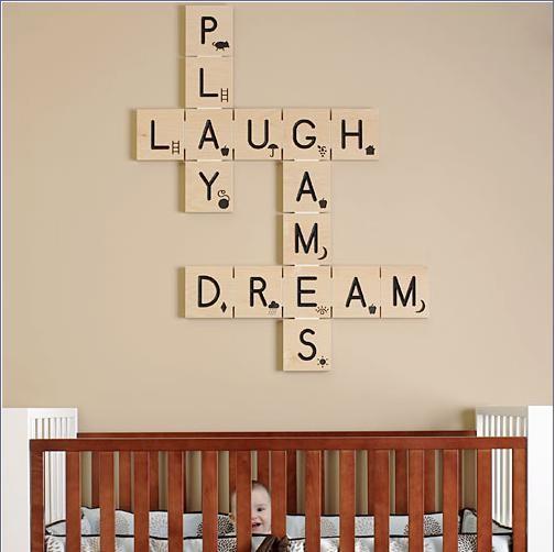 Scrabble deco chambre enfant Poshtots