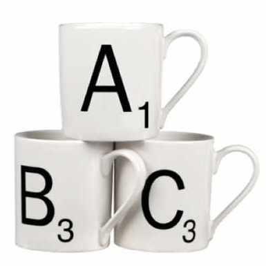 Scrabble mugs REMODISTA