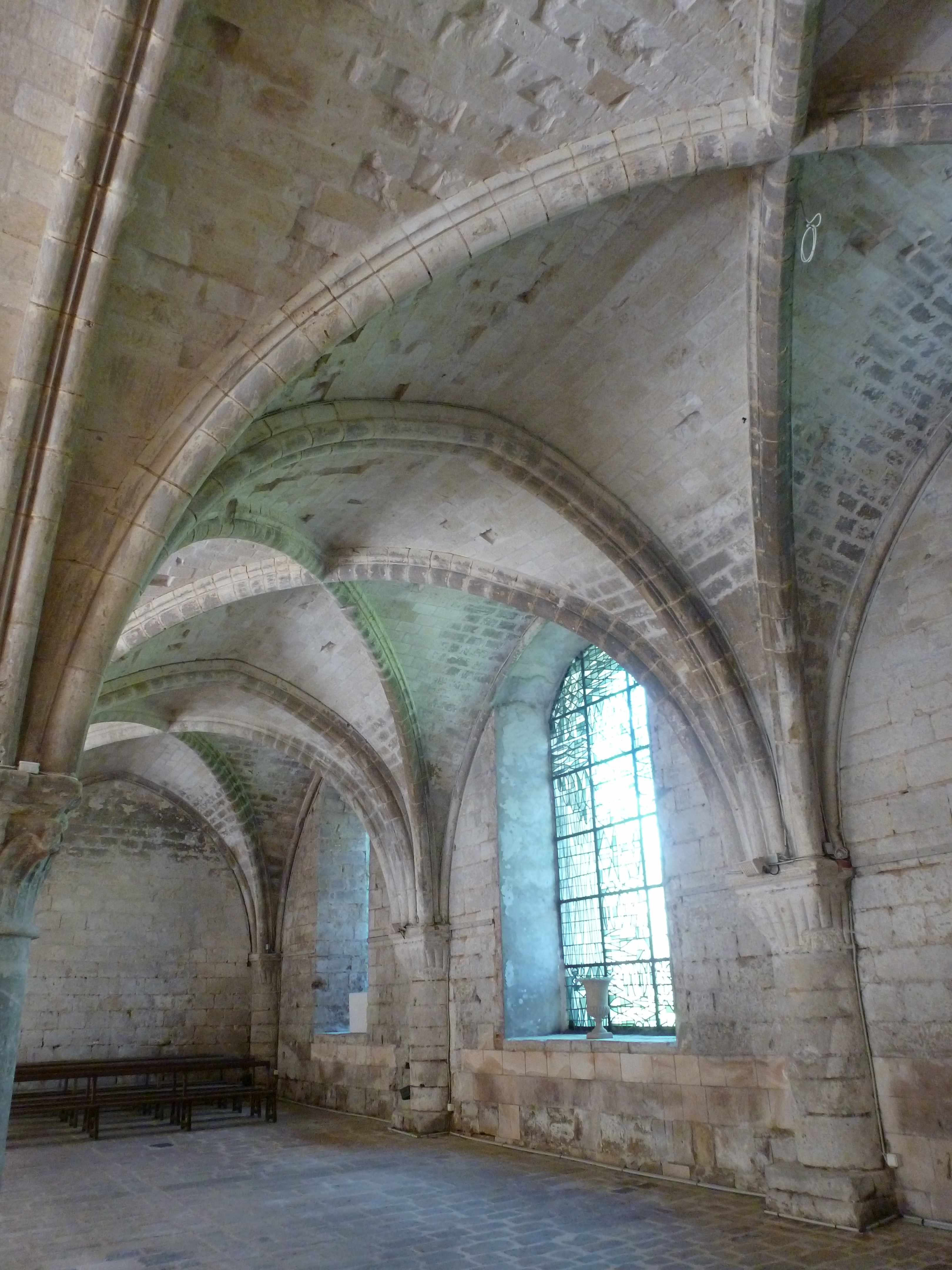 Abbaye Vaucelles salle capitulaire voutes