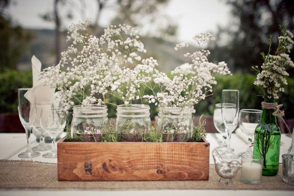 déco-mariage-centre-de-table-blanc-Mariage et babillages