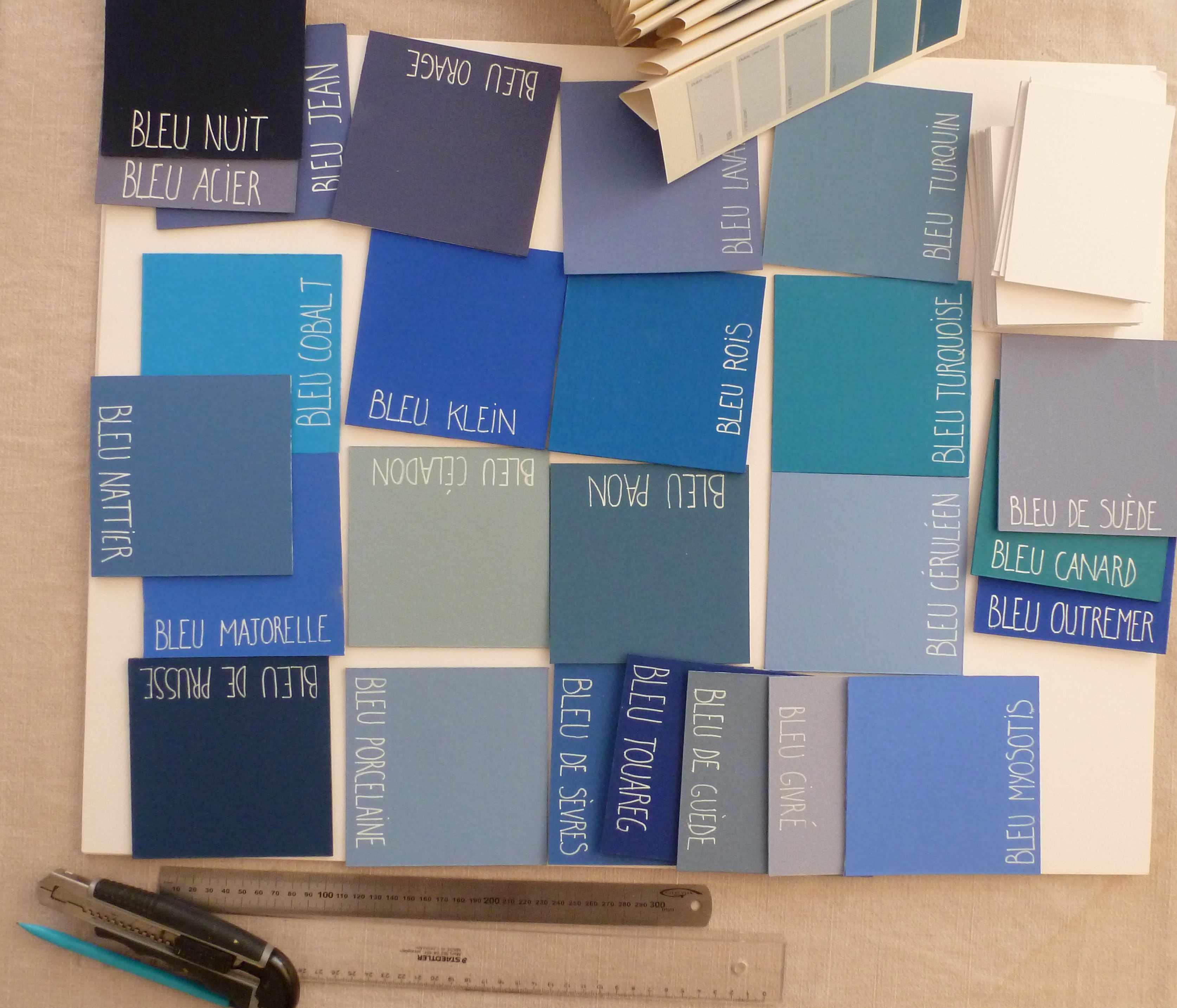 A-W noms de table mariage nuances bleus