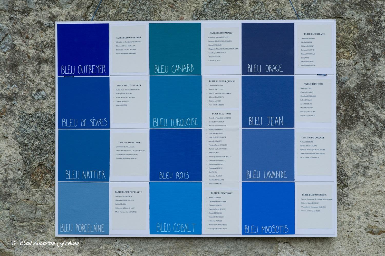 Mariage A&W tableau affichage1