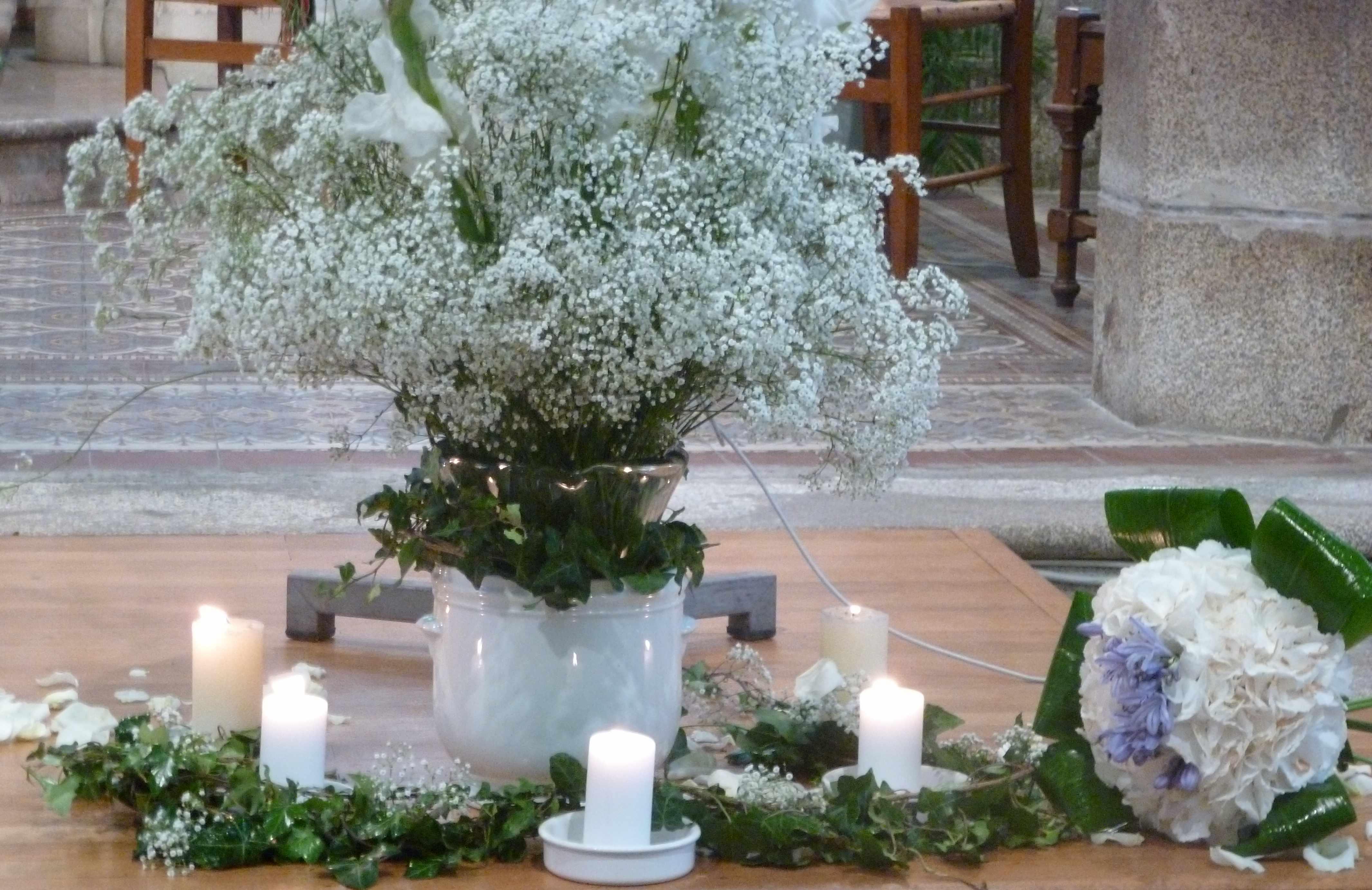 Mariage A et W eglise bouquet
