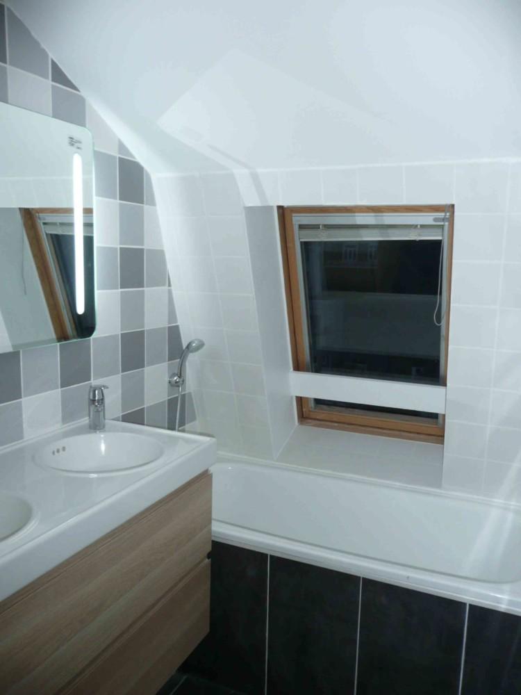 Grande Faience Salle De Bain : an, 3 salles de bain (3) : gris et blanc
