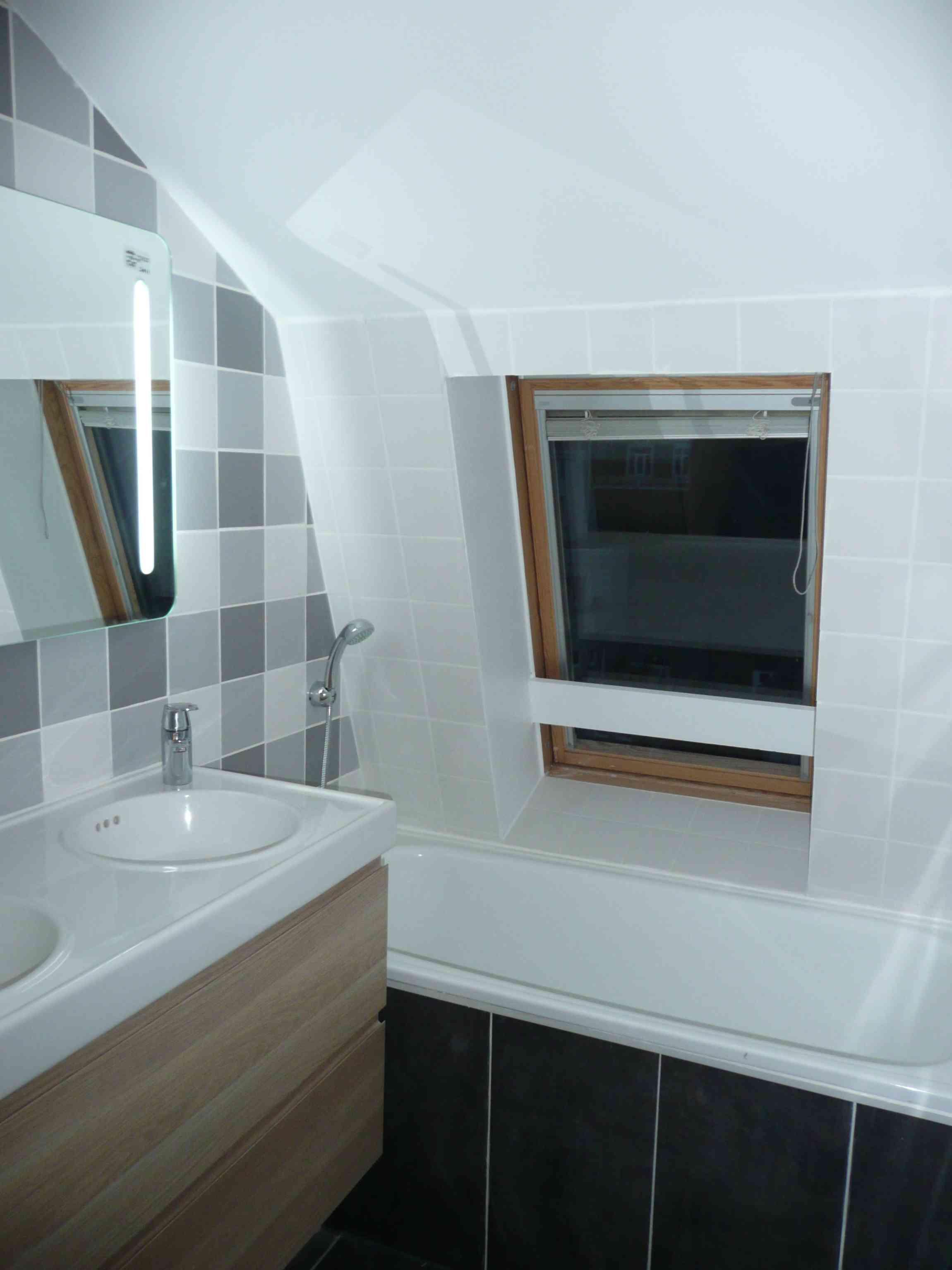 Salle de bain Lille gris renovation A tous les etages