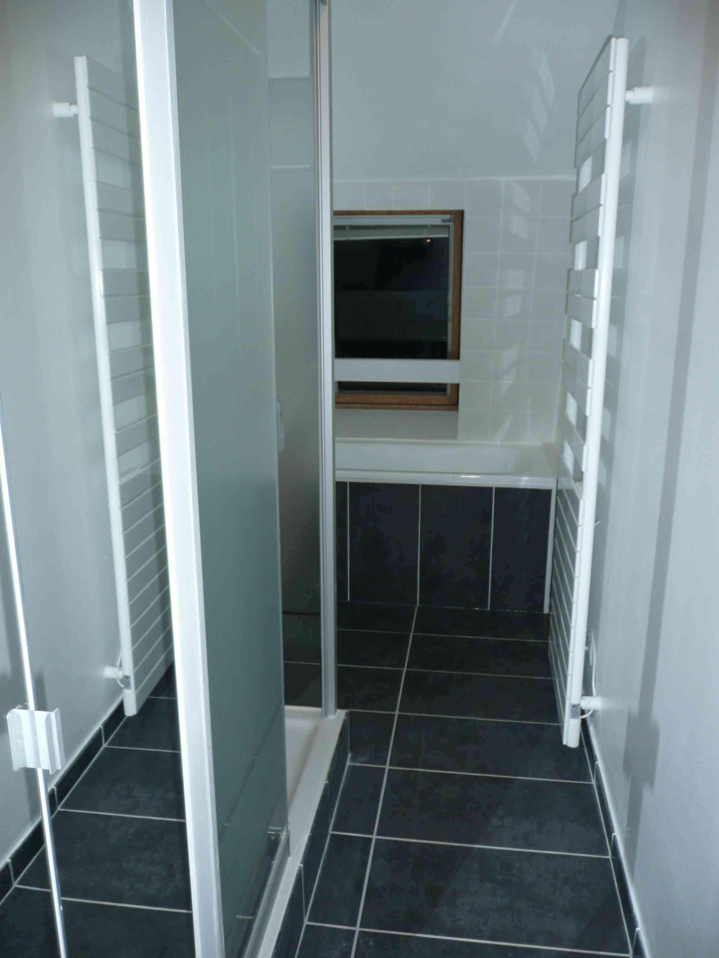 Salle de bain Lille gris sol gres ardoise