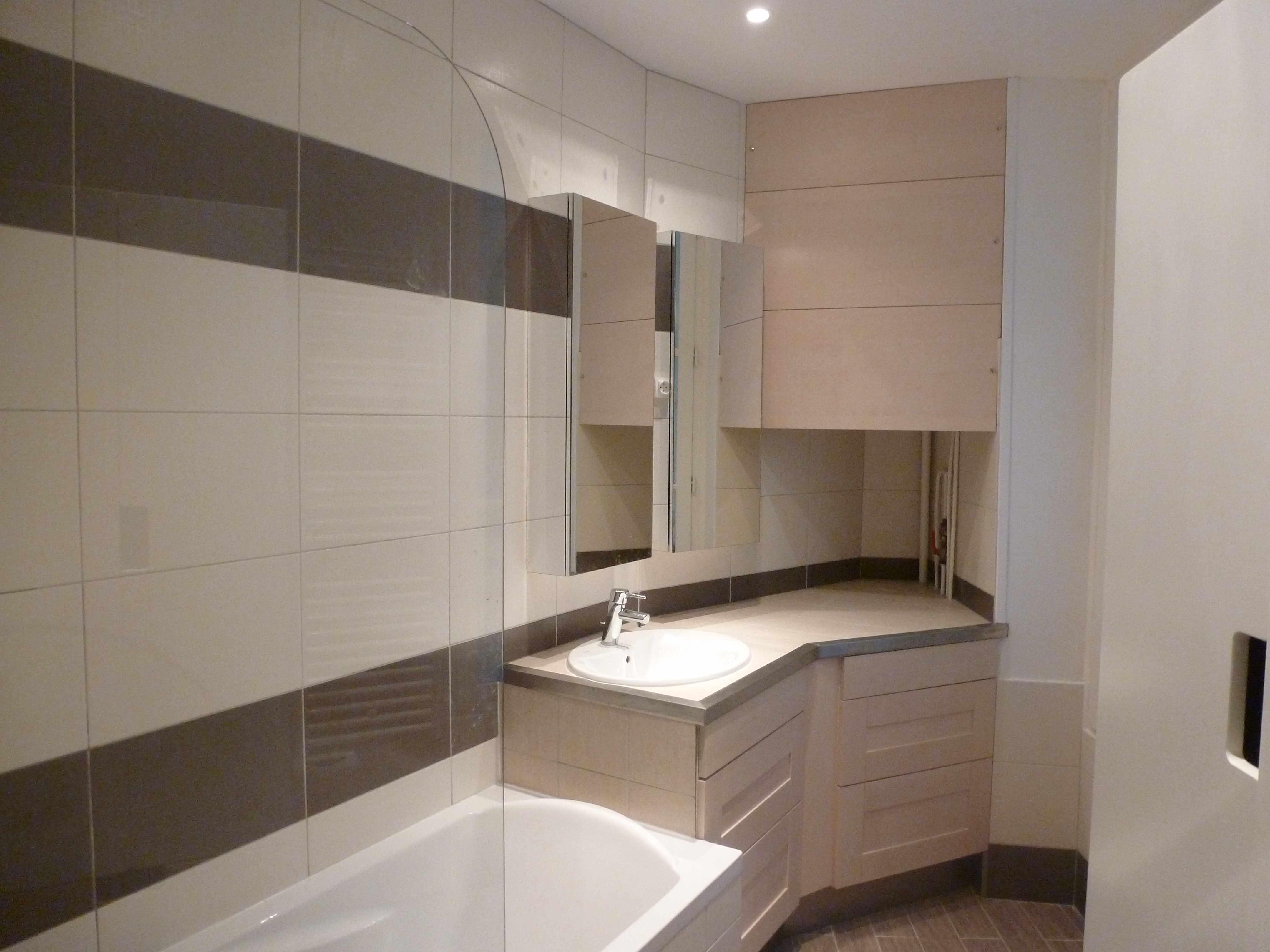 1 an 3 salles de bain 2 brun et blanc - Travaux salle de bain ...
