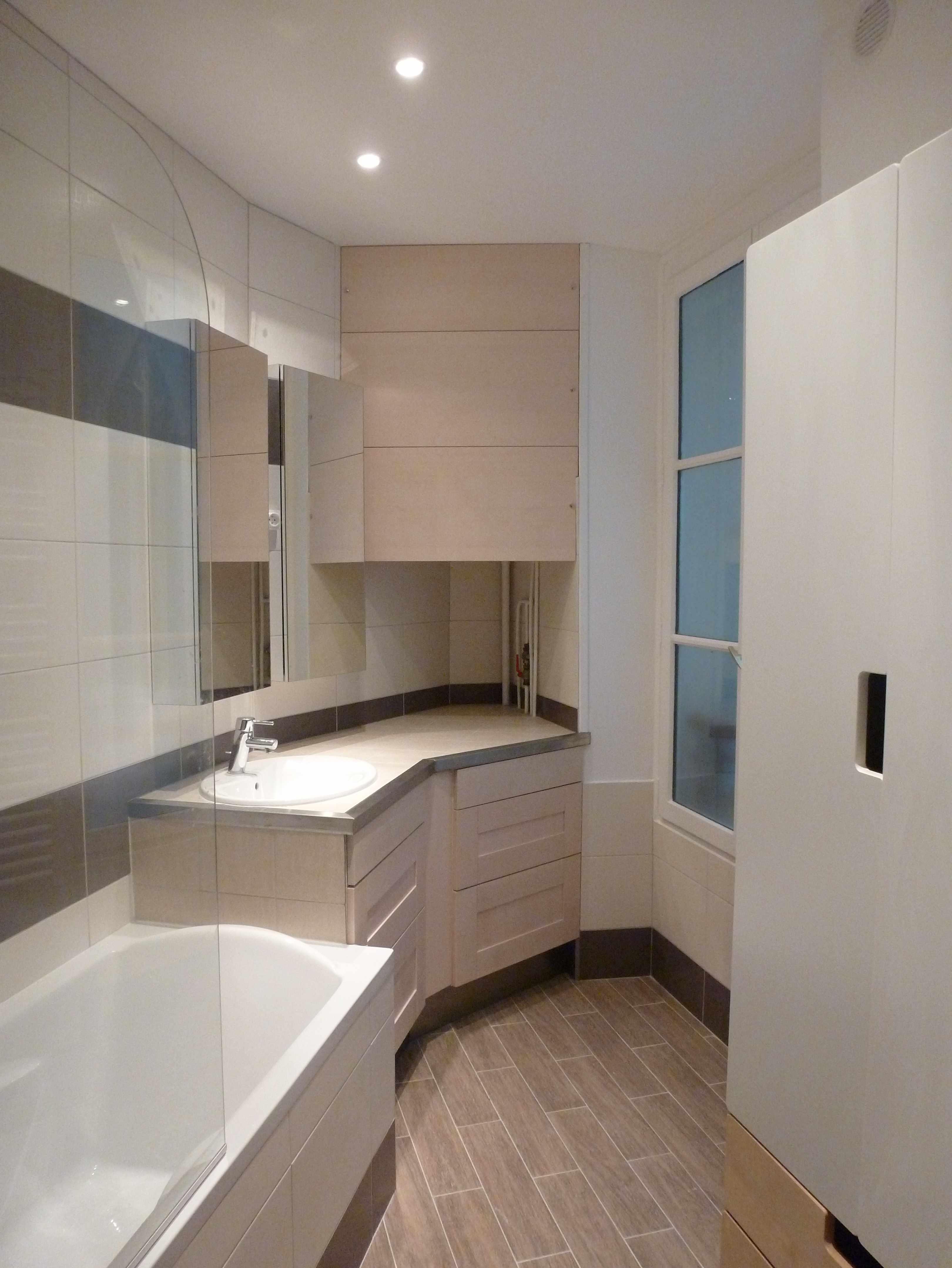1 an 3 salles de bain 2 brun et blanc for Salle de bain paris