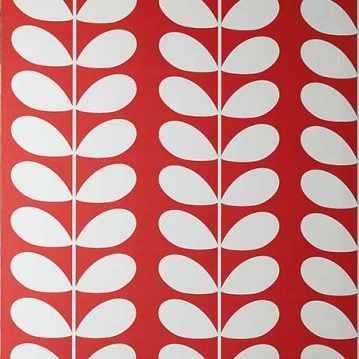 Diana rouge Papier peint des annees 70