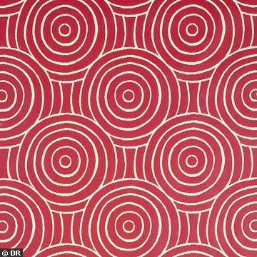 Papier peint Ellipse rouge, Pierre Frey