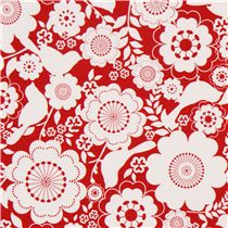 red-Riley-Blake-flower-and-animal-fabric-from-the-USA-bird-ModeS