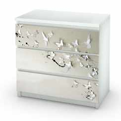 Sticker butterfly birds commode Malm MyIkea