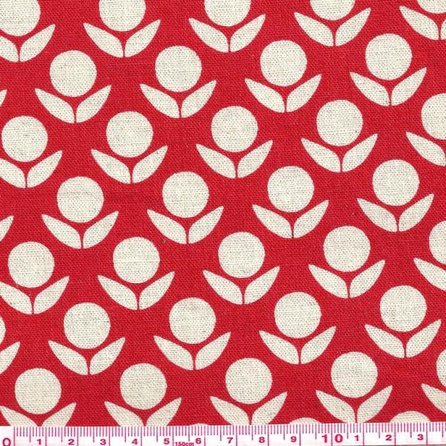 Tissu-echino-fleurs-rouges-Motif-personnel