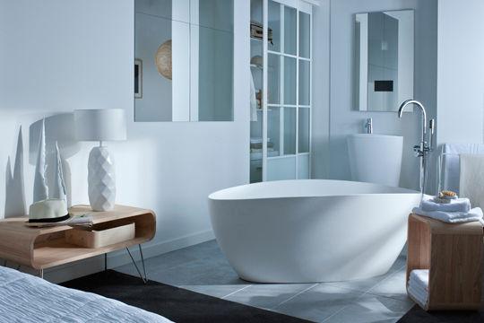 baignoire galet dans chambre a coucher Cote-Maison
