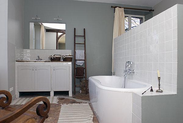 demi-cloison entre chambre et salle de bain Maison-com