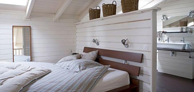 salle de bain derriere muret tete de lit DECO SALLE DE BAIN