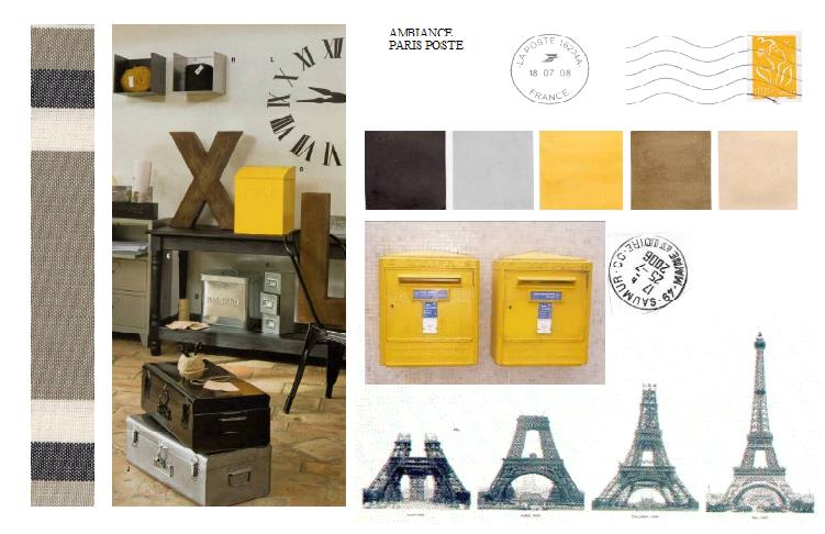 Composer une planche d 39 ambiance for Decoration chambre theme paris