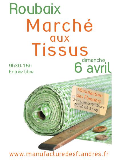 Marche aux tissus Roubaix 06-04-2014
