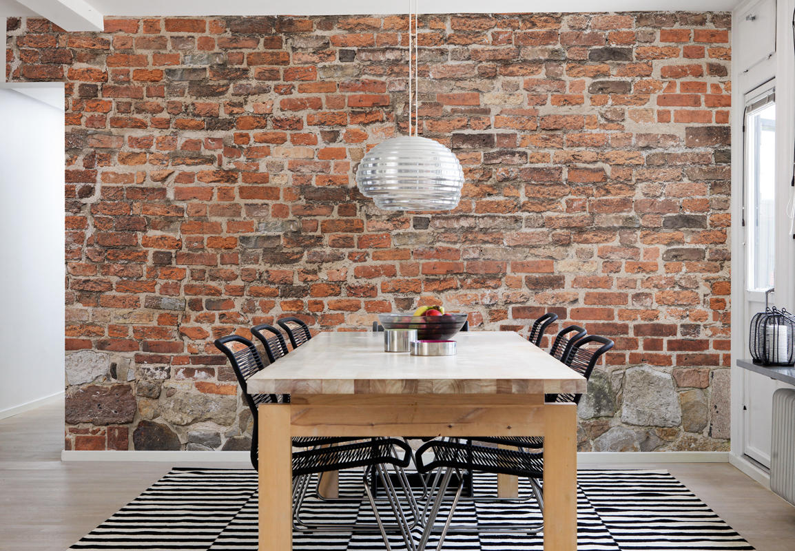 Papier peint Old brick wall Mr Perswall