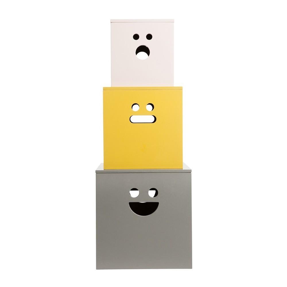 Chambres d'enfants : en jaune et gris
