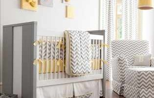 Concevez votre maison en jaune et gris Babybedding