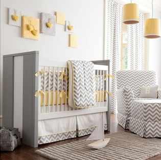 Chambres d\'enfants : en jaune et gris