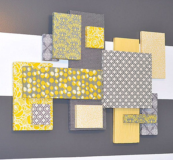 dco diy idees mur design mag - Decoration Chambre Bebe Jaune