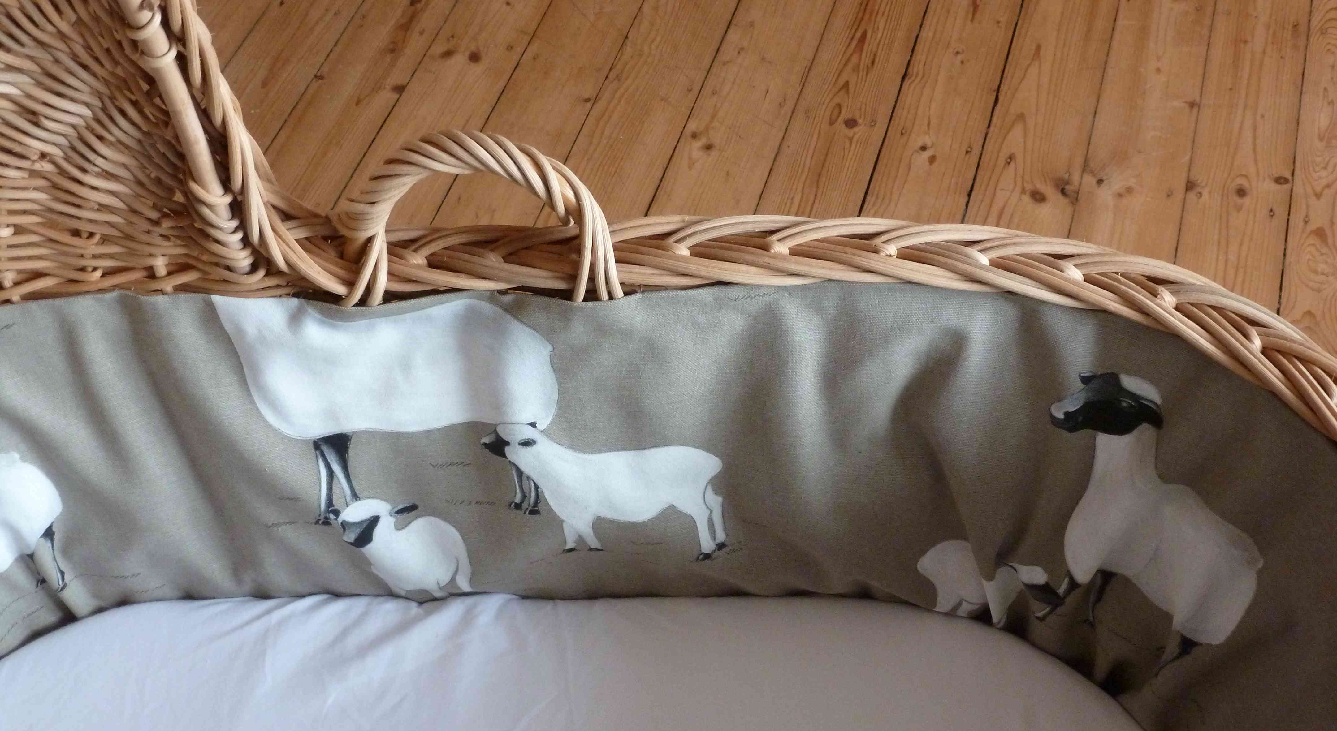Rotin c lin - Comment habiller un berceau en osier ...