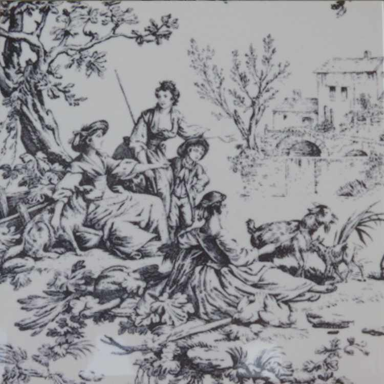 carrelage-imprime-toile-de-jouy-noir-15x15-Le-Monde-de-Rose