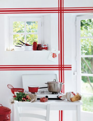 motifs de torchon sur mur Marie-Claire-idees