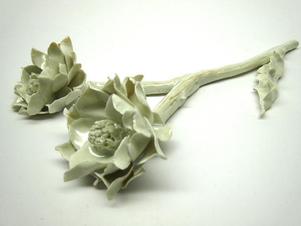 branche-d-artichaud-en-fleurs BY-RITA - CREATIONS PASCALE MORIN Maison-et-Objet-09-2014