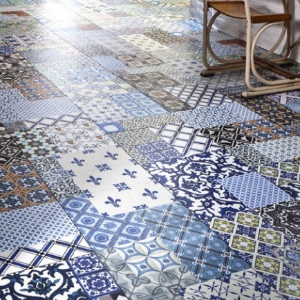 Carreaux de ciment motifs end miques - Dalle pvc imitation carreau de ciment ...