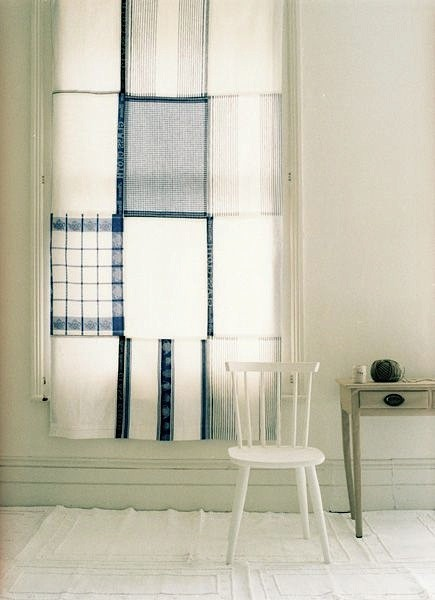tea-towel-curtains-blue-white-remodelista