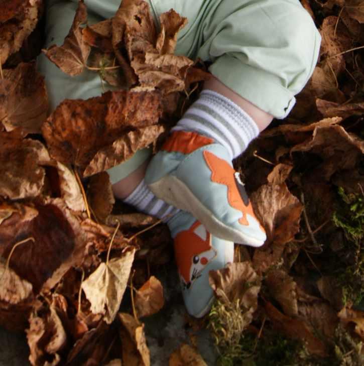 chaussons renard pour bébé
