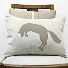 coussin renard ombre chinoise