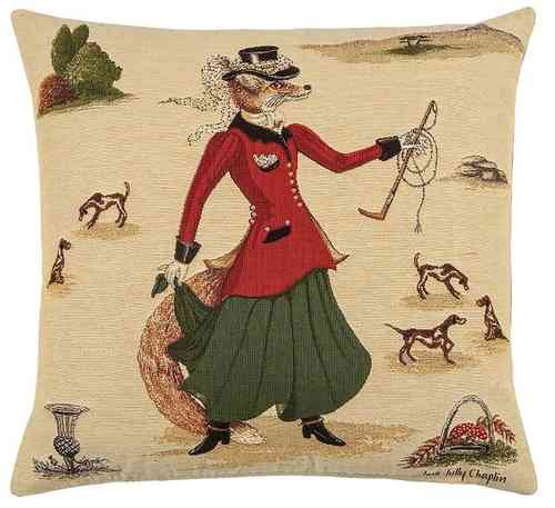 coussin-renarde-chasseur-lady-fennella-fox-Cross and Country